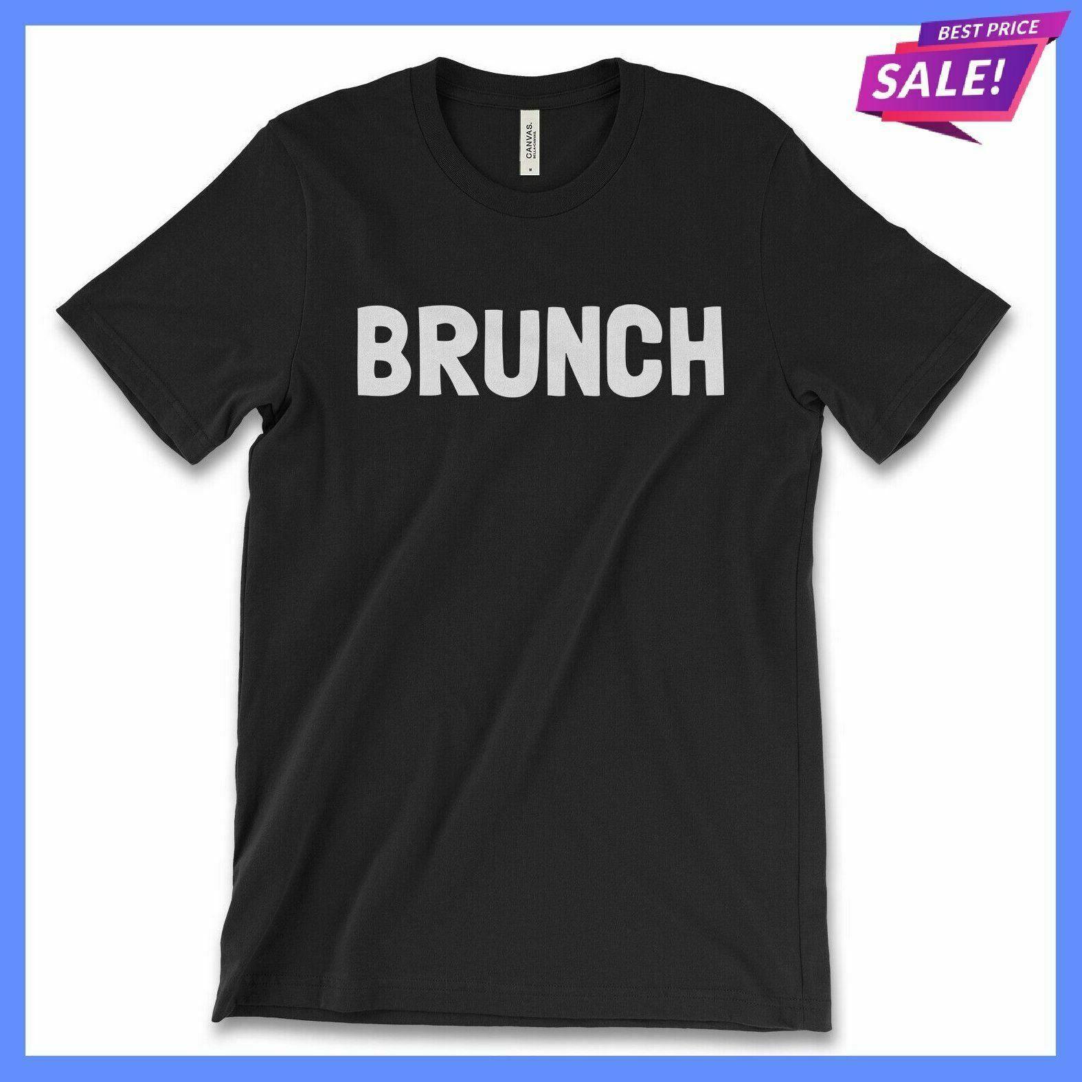 Camiseta para hombre Brunch café Club moda bloguero divertido eslogan comida adultos camiseta
