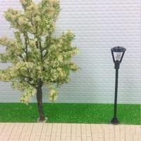 10pcsset model garden lamps scale 1100 black model layout single head garden lights lamppost landscape light model