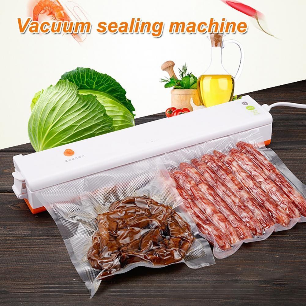 المطبخ فراغ جهاز غلق أكياس الطعام التلقائي التجارية المنزلية الغذاء فراغ السدادة ماكينة تغليف تشمل 10 قطعة أكياس