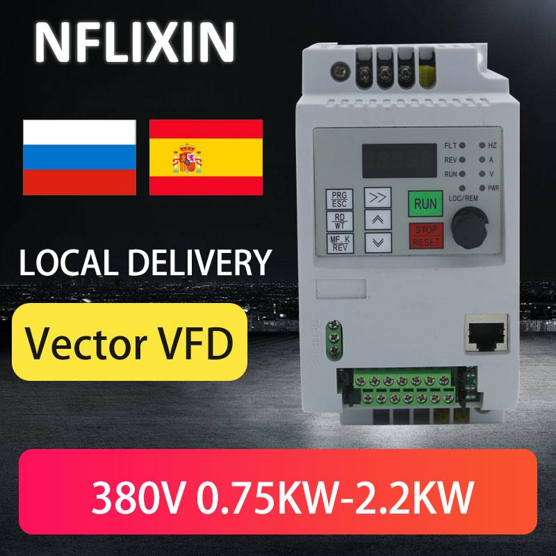 VFD عاكس التردد محول 1.5KW 2HP 3 المرحلة 380 فولت 600 هرتز ل مضخة ماء صغيرة ومروحة