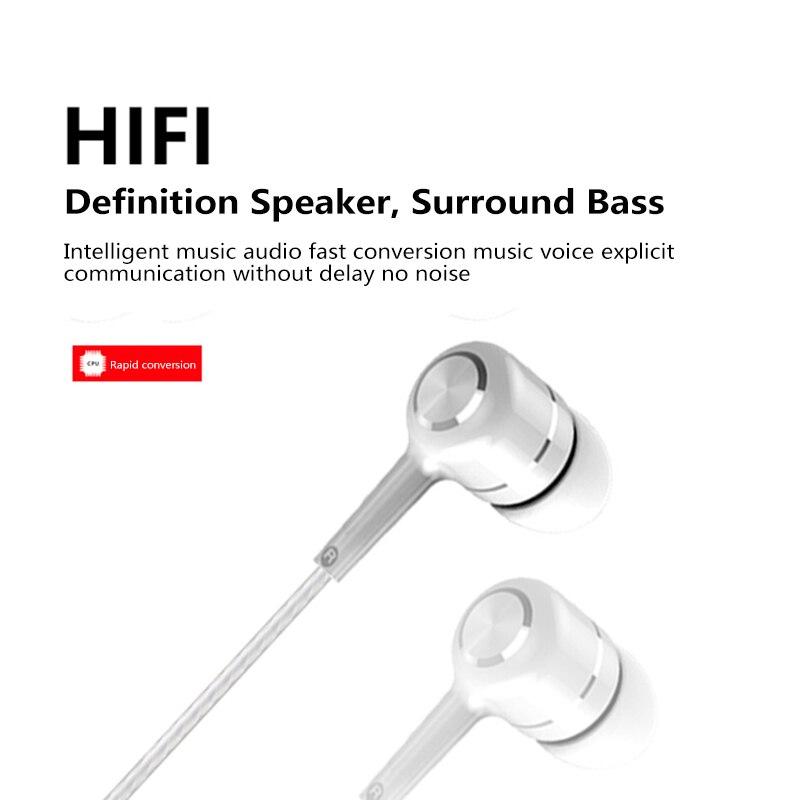 Hi-Fi наушники-вкладыши 3,5 мм, регулируемый объем, проводные наушники с шумоподавлением,