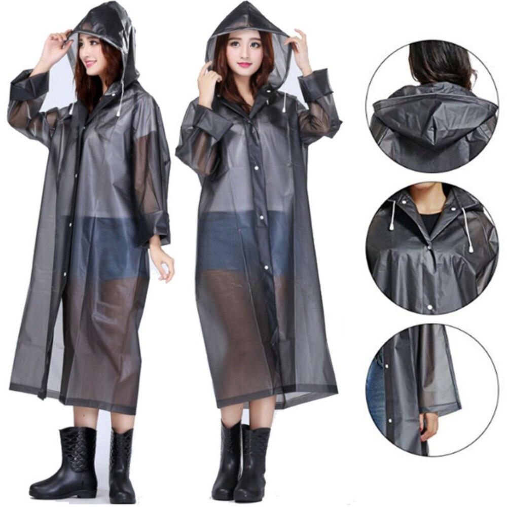 Женский дождевик из ЭВА, утолщенный водонепроницаемый дождевик, женский белый, черный водонепроницаемый дождевик для кемпинга, плащ-костюм