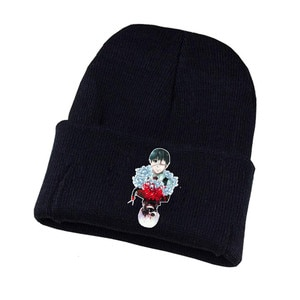 Anime Tokyo Ghoul Knitted Hat Cosplay Hat Unisex Print Adult Casual Cotton Hat Teenagers Winter Knitted Cap