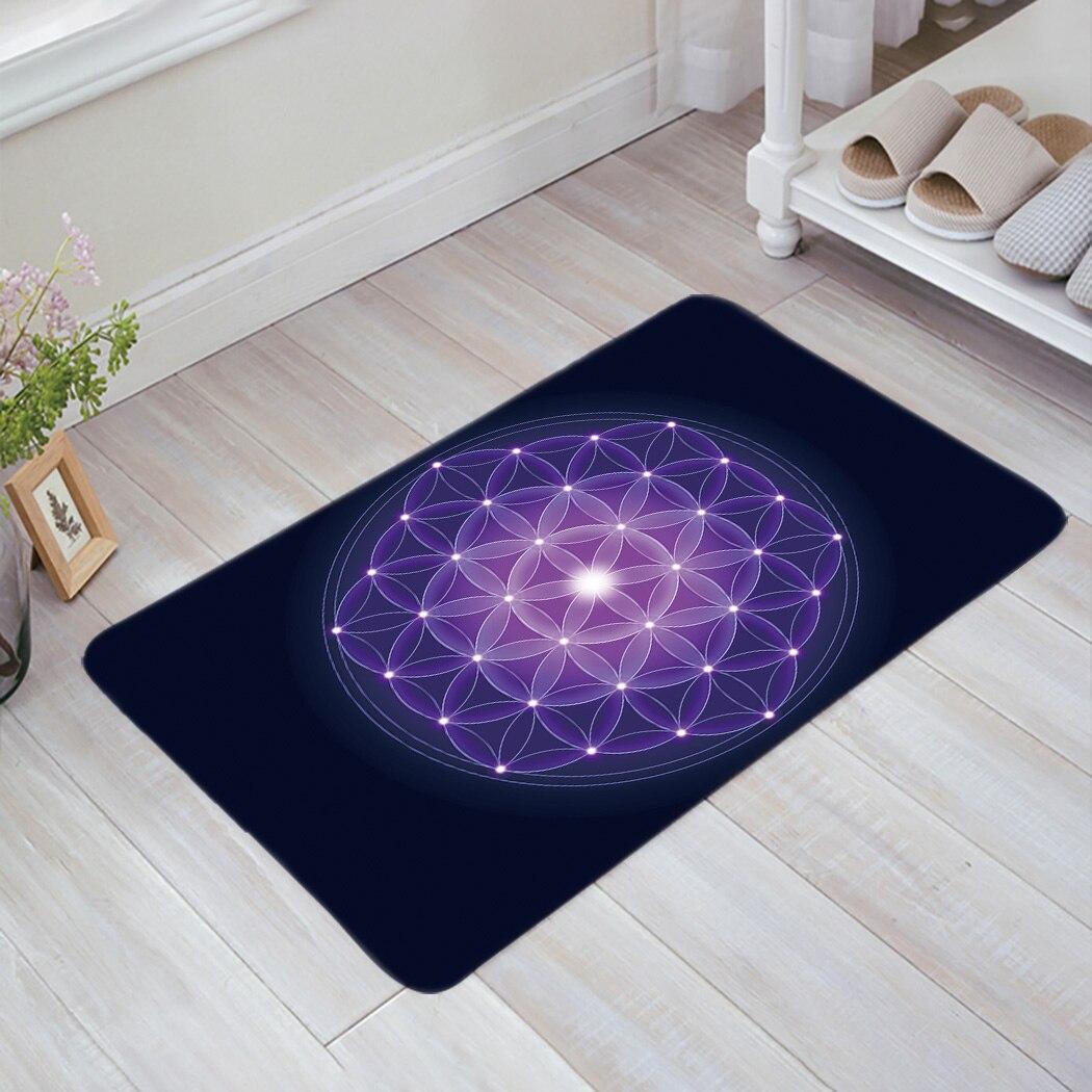 Violet Life fleur paillasson tapis antidérapant doux tapis de bain salle de bain fournitures tapis salon