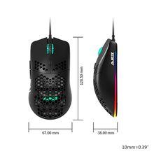 Ratón con cable ligero AJ390, ratón de videojuegos ahuecado, ratón ajustable de 6 DPI, 7Key M20 20, dropship