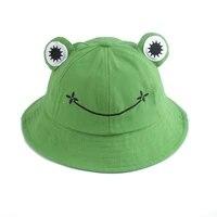 parent kid cartoon frog bucket hat panama fishing cap cute froggy hat outdoor sun fisherman hat