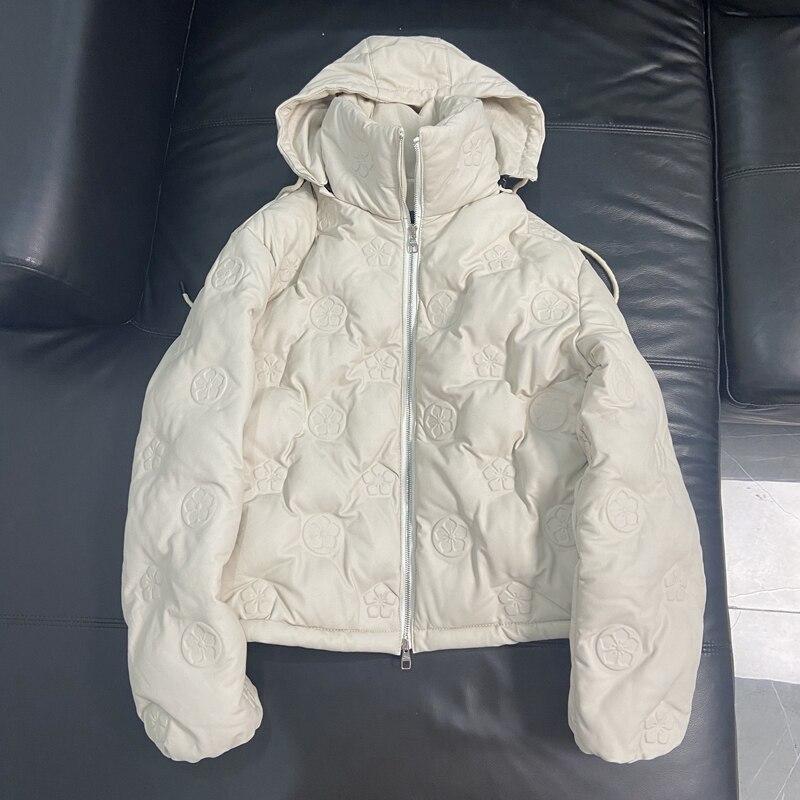امرأة المعاطف الطبيعية جلد طبيعي 2020 الشتاء 100% معطف جلد الغنم الإناث أسفل معطف دافئ H1119
