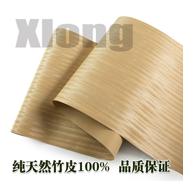 L:2.5Meters Width:55cm  Thickness:0.25mm Wide Natural Gold Silk Teak Veneer Wide Veneer Furniture Veneer Handmade Solid Wood