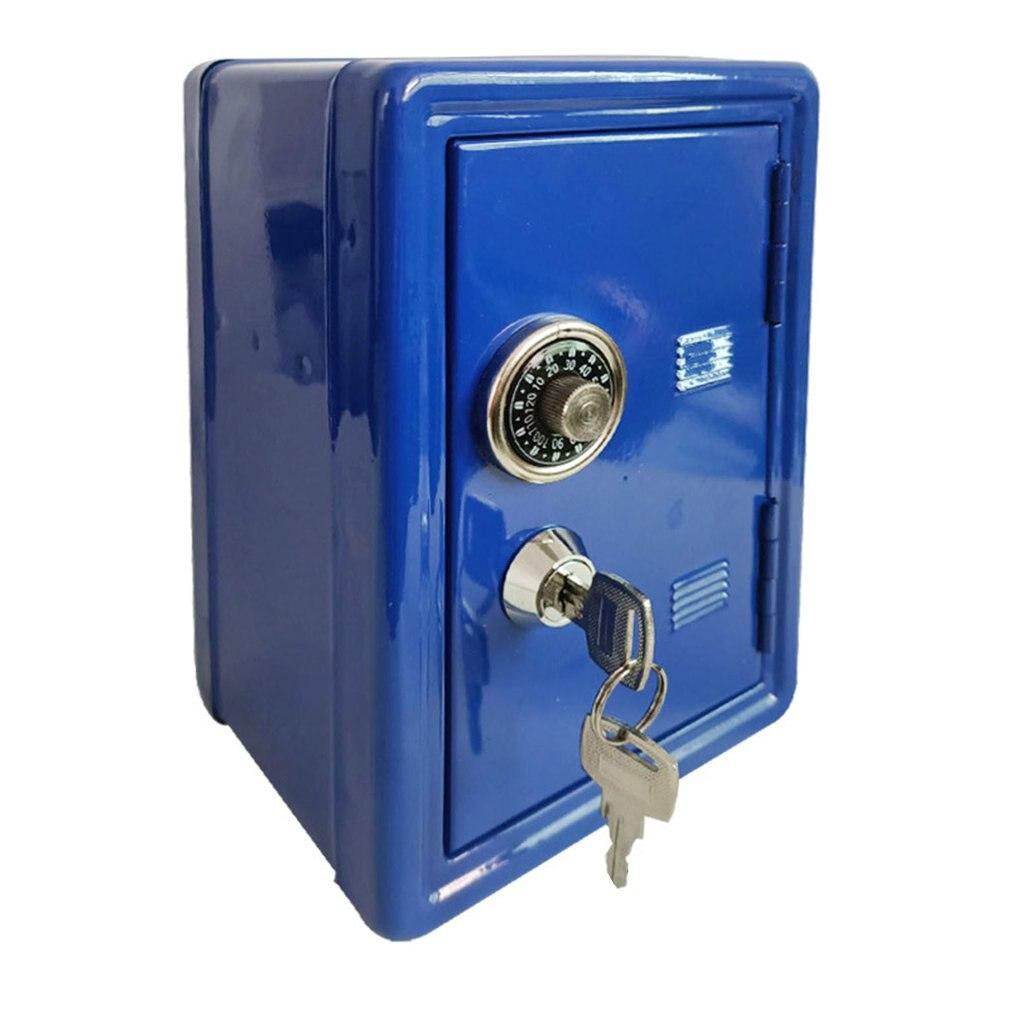 Caja de Seguridad para el hogar, Mini caja de seguridad de Metal, hucha creativa, caja de seguridad para llaves, armario de decoración de escritorio