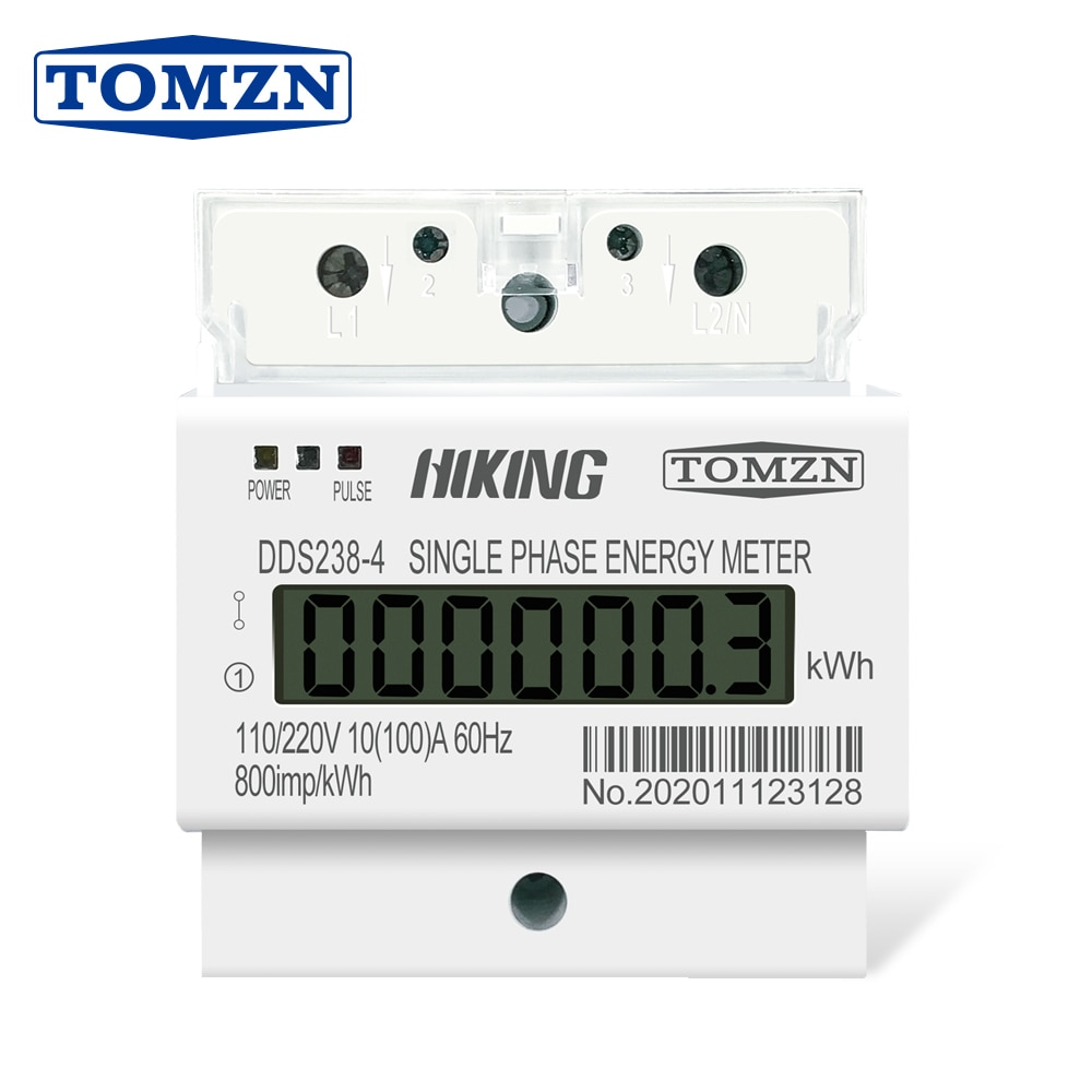10(100) 110 В/220 В 60 Гц однофазный трехпроводной din-рейка кВт/ч Ватт час din-рейка счетчик энергии ЖК для Америки