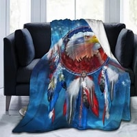 new fashion 3d printing eagle comfortable plush blanket printing flannel bed linen soft blanket square picnic soft blanket