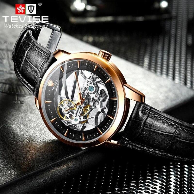 TEVISE Luxury Men Watch relogio masculino Skeleton Mechanical Casual Fashion Waterproof Sports Watch
