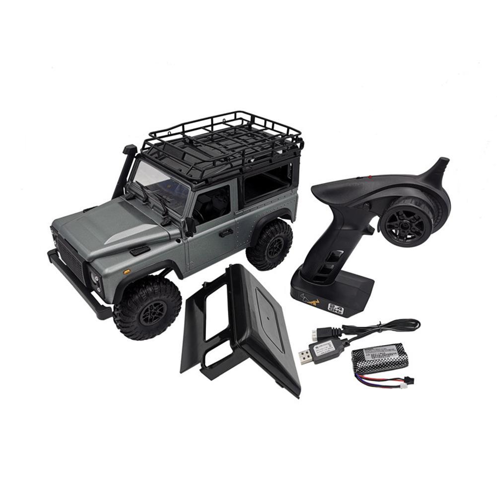 Coche a Control remoto 112 2,4 GHz 4WD todoterreno camión con luz para Land Rover D90 MN99S edición de aniversario