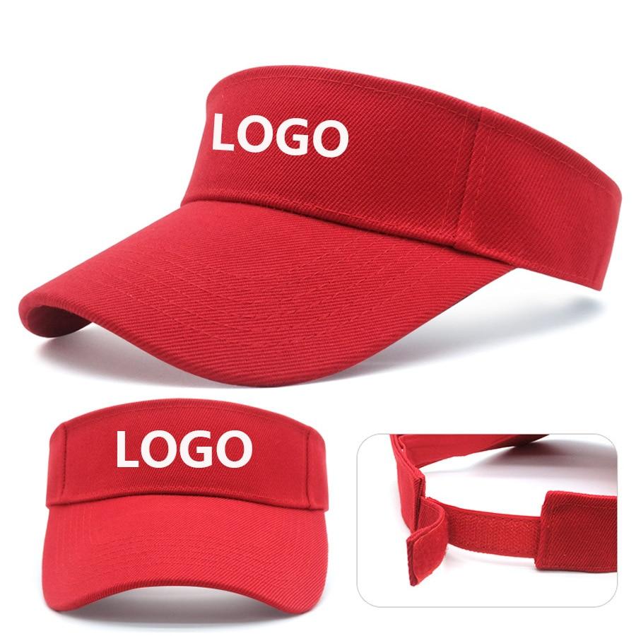 10 unidades de gorras de visera de verano con logotipo impreso, gorras deportivas de visera larga con visera vacía, gorra de Sol de béisbol, gorra Snapback de camionero, gorras de hueso