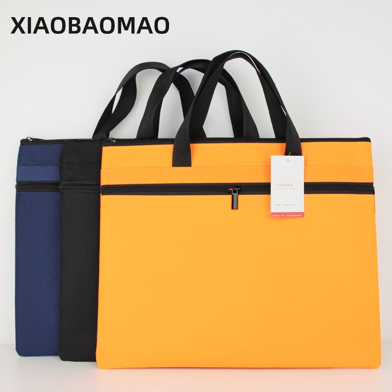 2020 Folder Document Bag Man Laptop Handbags Portable File Bag Business Briefcase Organizer Notebook Handbags Solid Color