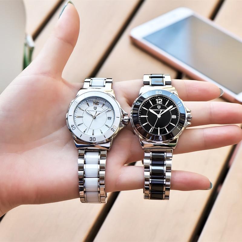 PAGANI DESIGN Luxury Brand-Name Bracelet, High-Quality Ceramic Strap, Women Watch, Men watch, Stainless Steel VJ32 Quartz Watch enlarge