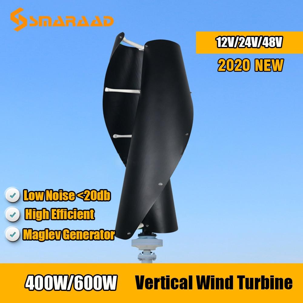 SMARAAD 2020, nueva llegada, 400w, 600w, turbina aerogeneradora de eje Vertical 12v/24v con controlador MPPT gratis, molino de viento para uso doméstico