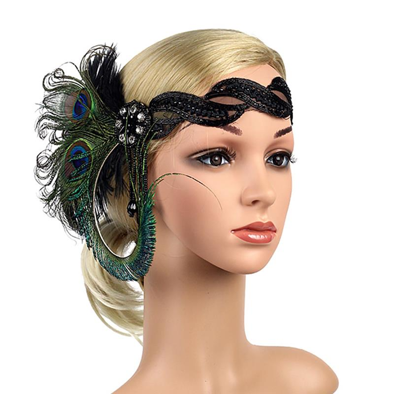 ¡Moda 2020! Diadema de plumas estilo bohemio, tocado de borla de pluma Vintage, accesorios para el cabello hechos a mano de alta calidad para niñas