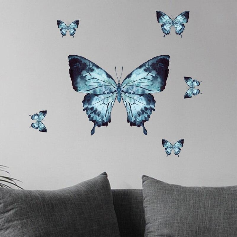 Grand papillon stickers muraux décor à la maison salon enfants chambre autocollant mural décoration PVC papier peint sur le mur nouvel an décor
