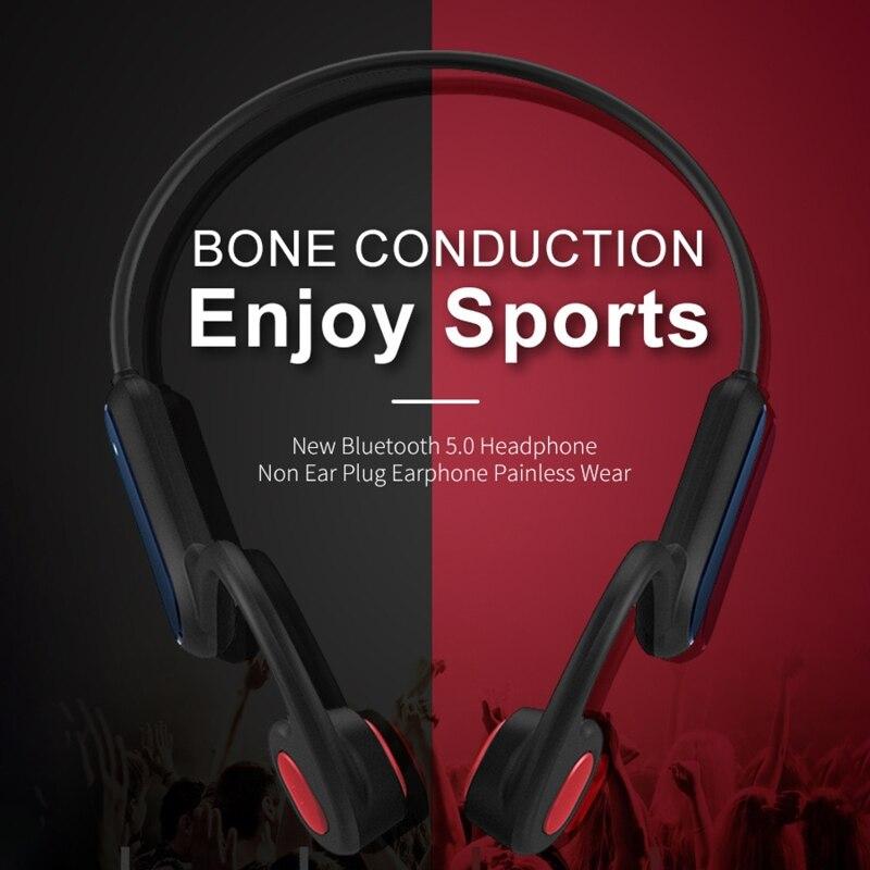 Fone de Ouvido sem Fio Estéreo à Prova Música para Correr Ciclismo ao ar Condução Óssea Bluetooth Fone Dsweatágua Sweatproof Livre 5.0