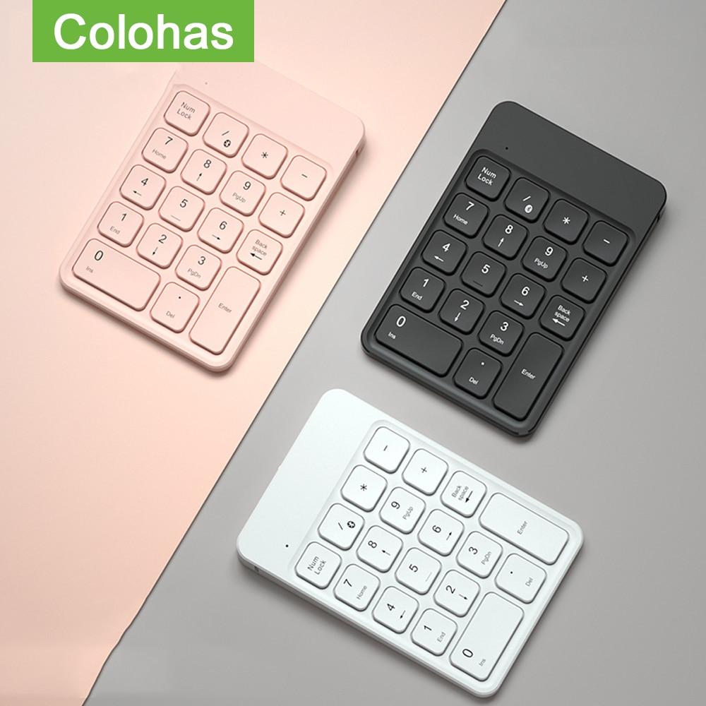 2.4GHz لوحة رقمية لاسلكية Numpad 18 مفاتيح لوحة المفاتيح الرقمية للمحاسبة الصراف الكمبيوتر المحمول أجهزة لوحية مكتب الكمبيوتر