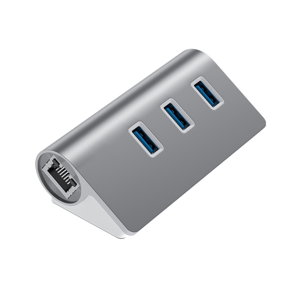 وحدة وصل USB 3 منافذ فاصل صغيرة متنقلة 4 في 1 5Gbps عالية السرعة محور محول SD TF قارئ بطاقة موسع للكمبيوتر ماك بوك