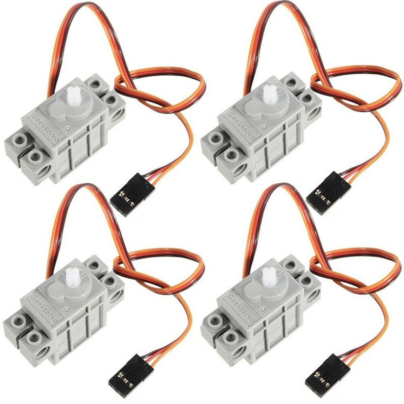 Servo gris Geek programable de 270 grados 4 Uds. Para MicroBit Robotbit para coche inteligente Makecode para educación infantil MB0002