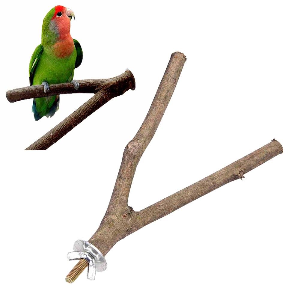 Raw Holzsitzstangen DIY Papagei Stehend Gabel Zweig Vogel Käfig Rack Pet Liefern Kauen Spielzeug