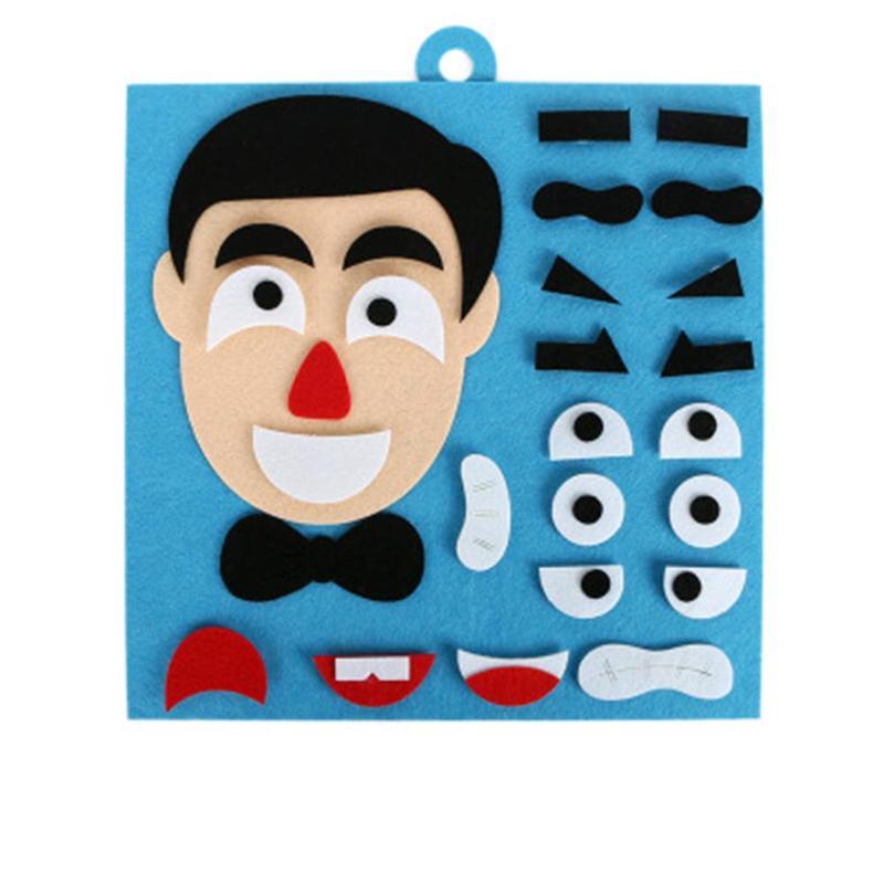 Детский пазл, войлочные игрушки, сделай сам, пазл для изменения эмоций, игрушки для детей, Обучающие Развивающие игрушки 30*30 см