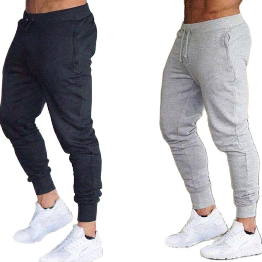 Pantalones de chándal de marca para hombre, para gimnasio, primavera y otoño,...