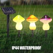 Solar Light Mushroom Stake Lights LED Outdoor Lawn Light Decorative Ground Plug Lamp Solar Lights For Garden Yard 9 Led Beads