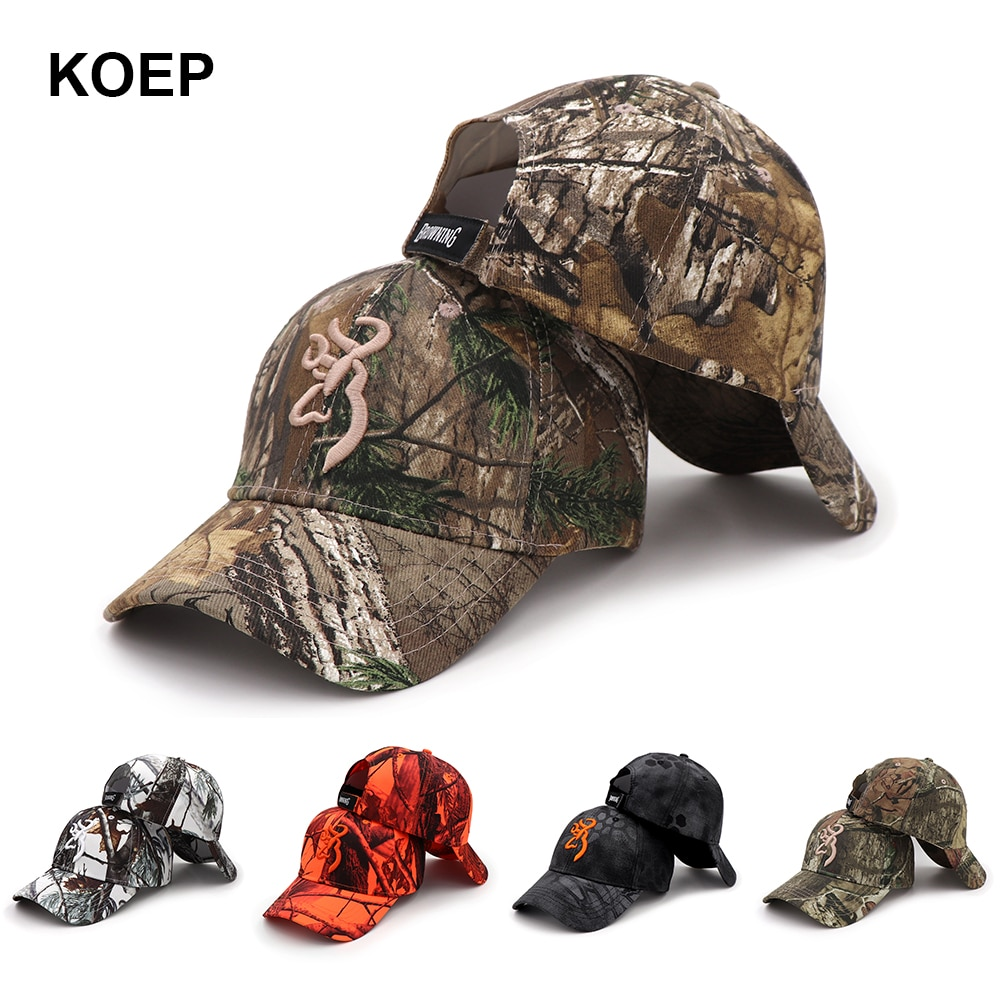 KOEP 2021 New Camo Baseball Cap Fishing Caps Men Outdoor Hunting Camouflage Jungle Hat Airsoft Tacti