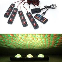 LED intérieur lampe voiture décoration étoilé pied lumière USB atmosphère ambiant coloré musique rythme son commande vocale Laser lampe