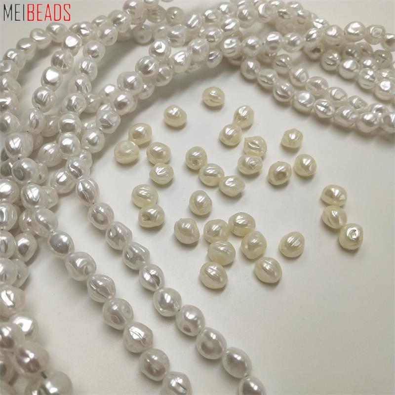 MeiBeads 30-90pcs/Lot Heart Pearl High Imitation Shape Loose Bead Flawless Glitter DIY Fashion Bracelet Necklace Jewelry Design