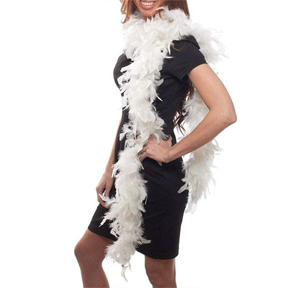 1PC Clothing Accessories Fluffy Turkey Feather Strip Boa Birthday Holiday Party Wedding Clothing Dress Decorations Supplies