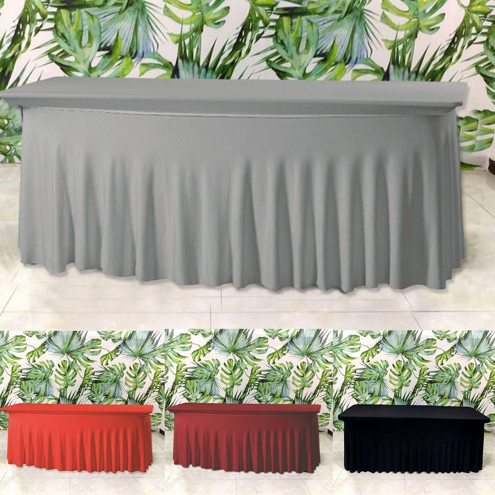 صالون تجميل تدليك مرونة غطاء السرير عالية تمتد الزفاف فندق عيد ميلاد غطاء الطاولة بوفيه القماش مجموعة منضدة مفرش المائدة ديكور