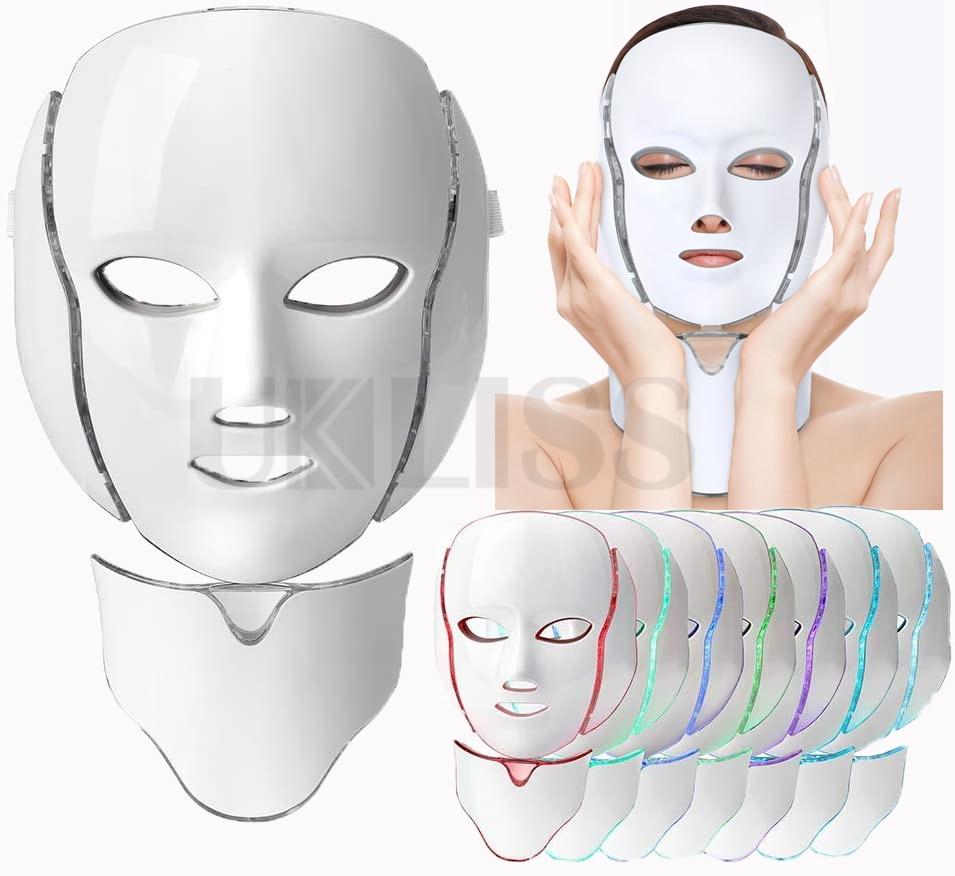 7 ألوان LED قناع الوجه بساطتها تصميم الفوتون العلاج مكافحة حب الشباب إزالة التجاعيد تجديد الجلد أدوات العناية بالبشرة الوجه