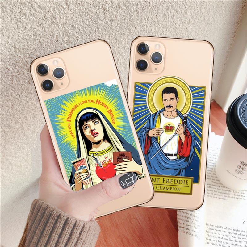 Capa para iphone x xr xs 8 7 plus 6s plus 5S se 11 pro catolicismo max tpu capa para iphone x xr