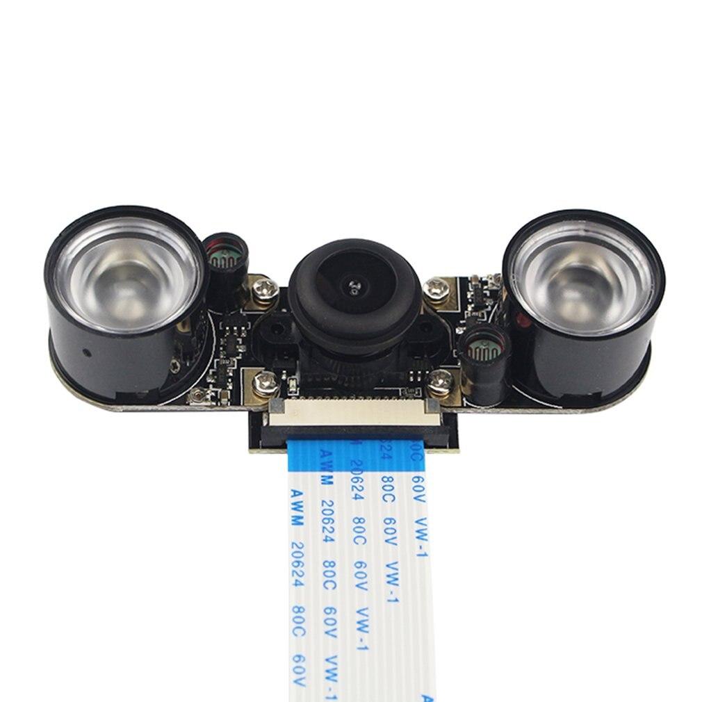 Para módulo de cámara Raspberry Pi con cámara de visión nocturna ir-cut automática 5MP HD Webcam para Raspberry Pi 4 Model B/3B +/3B/2B