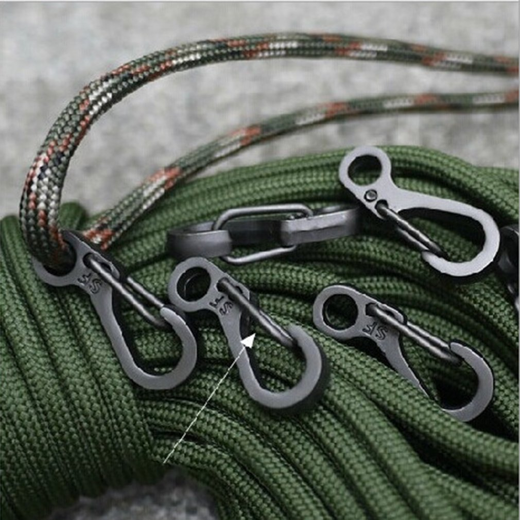 EDC Tools Spring Design Carabiner Clasps Portable Keychain Snap Clip Carabiner Hiking Buckle Split Spring Hook