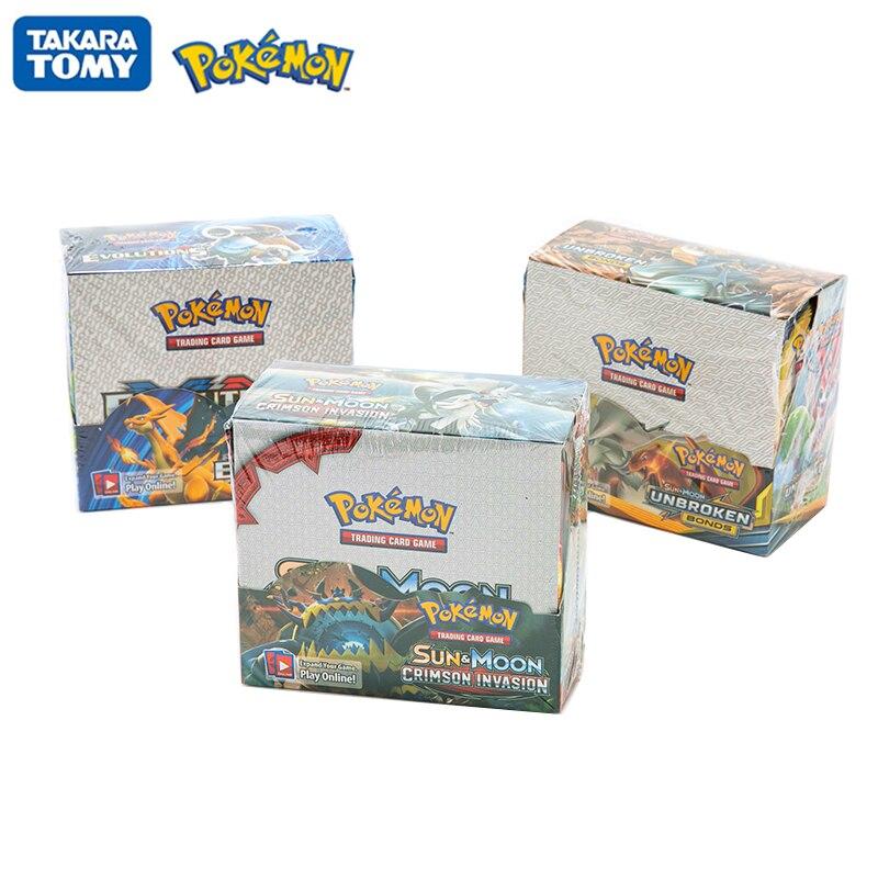 324 unids/caja Pokemon tarjetas Sun & Moon carmesí invasión unbreaked BONDS Evolutions inglés Trading Card juego coleccionable Tarjeta de juguete