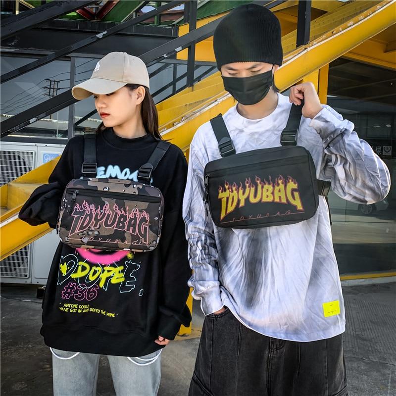 Unisex Chest Rig Bag Tactical Streetwear Chest Bag Functional Tooling Hip Hop Vest Bags Sports Vest Backpack Bandolera Hombre