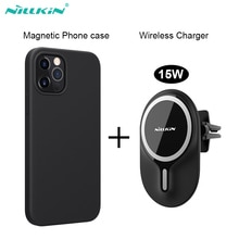 Nillkin 15 Вт магнитное беспроводное автомобильное зарядное устройство для iPhone 12 Pro Max Магнитный чехол для iPhone 12 Pro Быстрая зарядка держатель для телефона