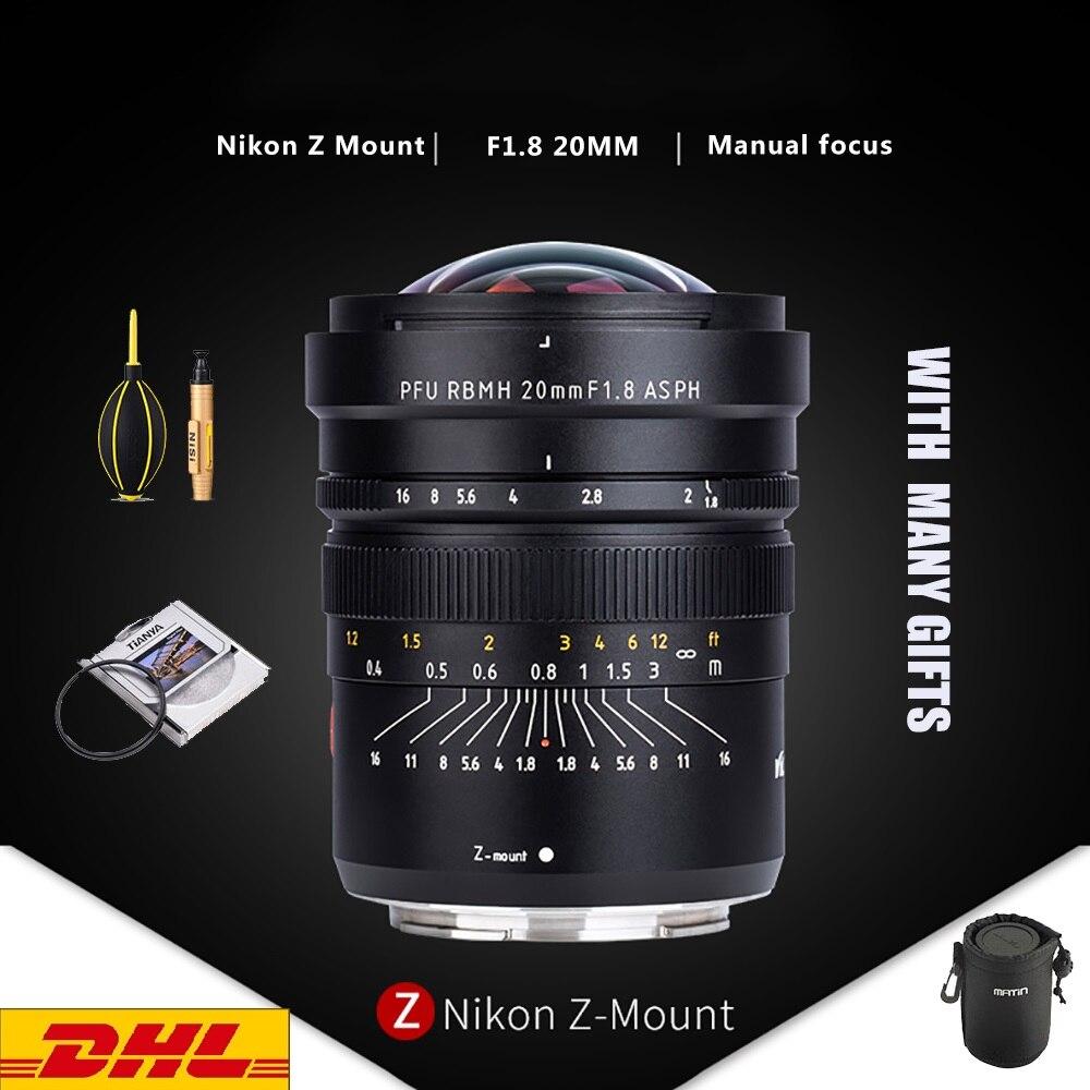 Viltrox PFU RBMH 20 مللي متر F1.8 ASPH عدسة الكاميرا التركيز اليدوي ASPH PRU RBMH واسعة زاوية lente لنيكون Z6/Z7 Z جبل عدسة كاميرا