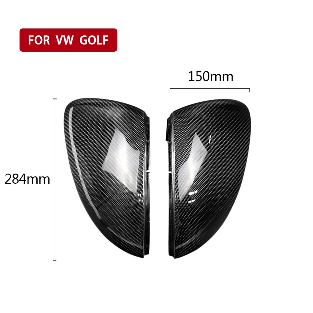 2pcs Car Side Rear View Rearview Back Mirror Replacement Cover for Volkswagen VW Golf 7 MK7 R GTI VII 2013-2017 Auto Accessories
