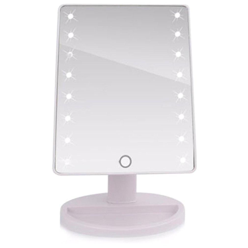 Espelho de maquiagem led desktop espelho interruptor de toque sensor de luz ajustável vestir princesa beleza espelho