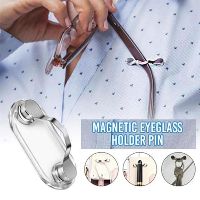 1pc Magnetic Glasses Holder Clip Removable Glasses Headphone Badge Holder Sunglasses Headset Line Cl