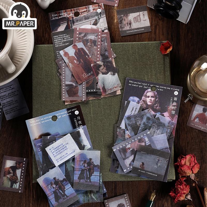 Mr.Paper 6 Design Dreamlike Dream Series Washi Paper Sticker Pack DIY Project Album Diary Decoration Planning Photo Scrapbook