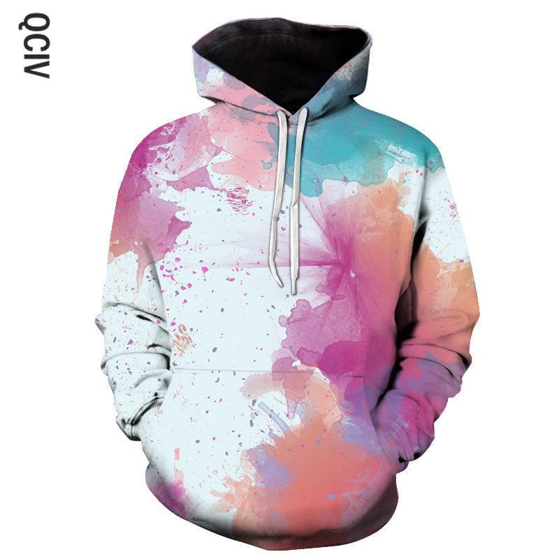 Gradiente impreso sudaderas con capucha de los hombres 3d sudaderas capucha sudaderas chaquetas jersey de moda Hip hop trajes