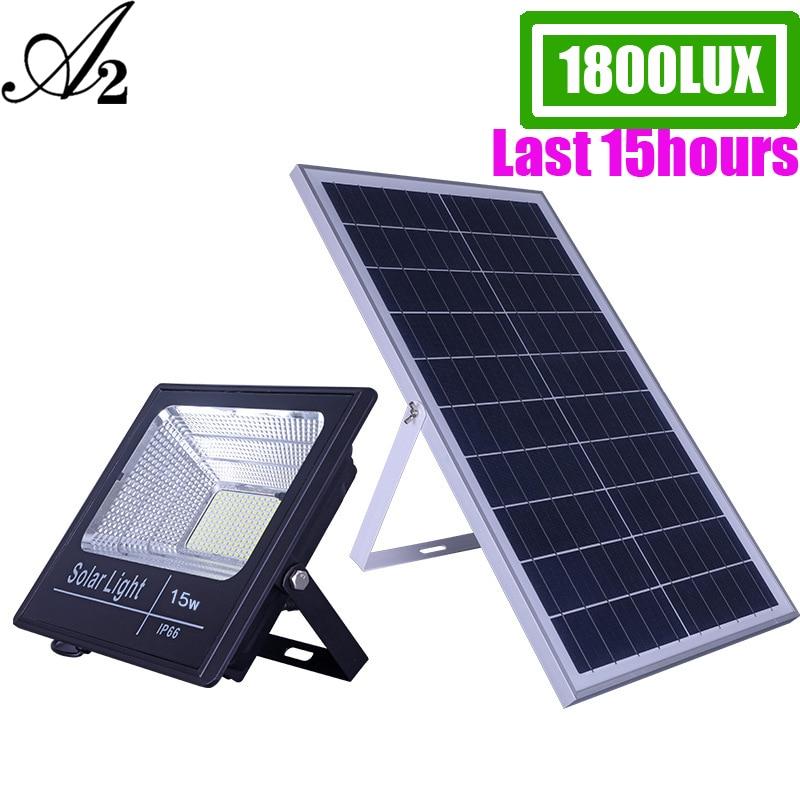 Iluminación Solar A2, lámpara solar LED biger Super Bright100 ④ 8000 mA, gran capacidad de batería, foco inalámbrico para exteriores, impermeable